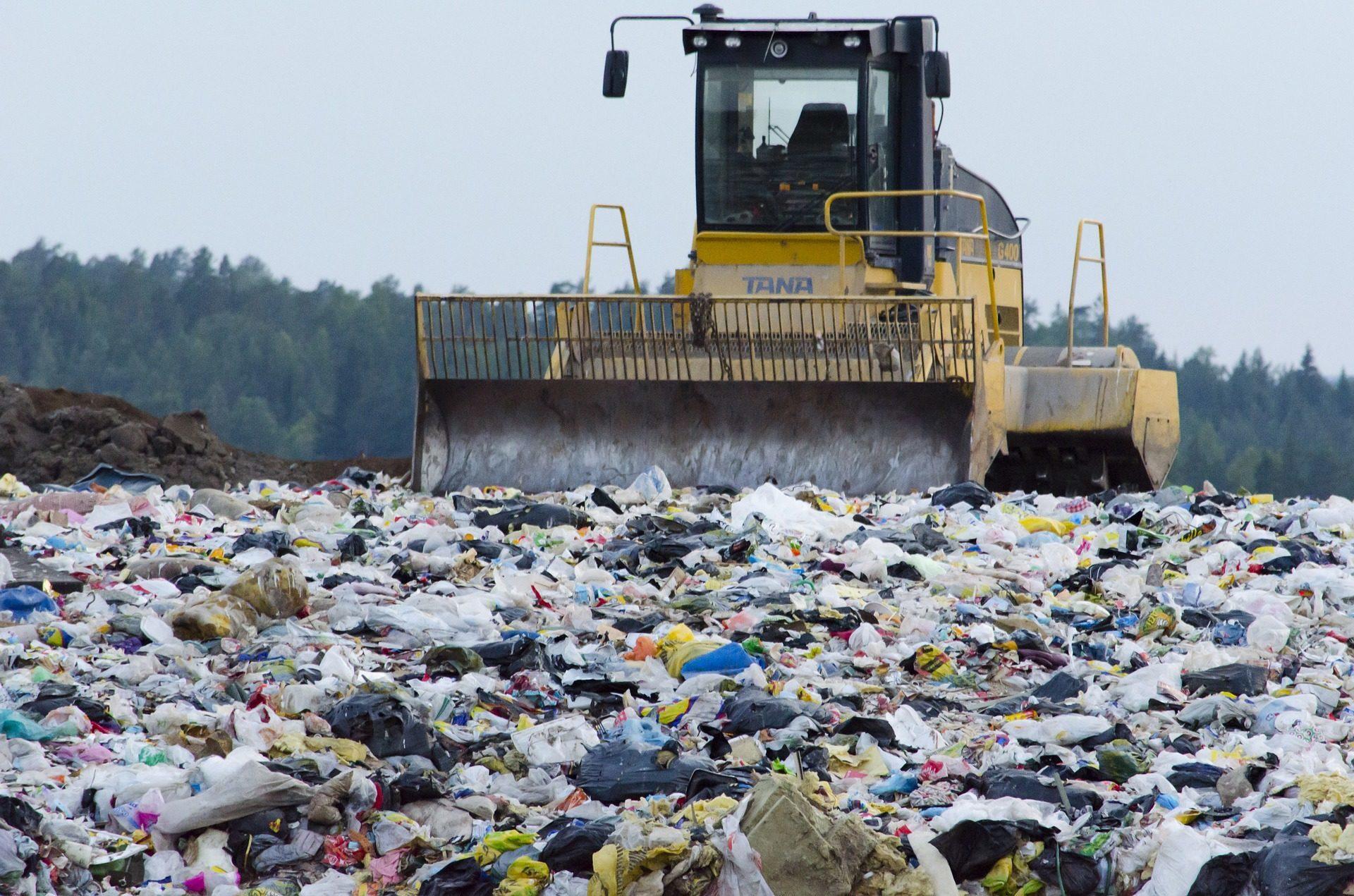 Image de déchets enfouis