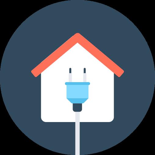 Icône habitation et électricité