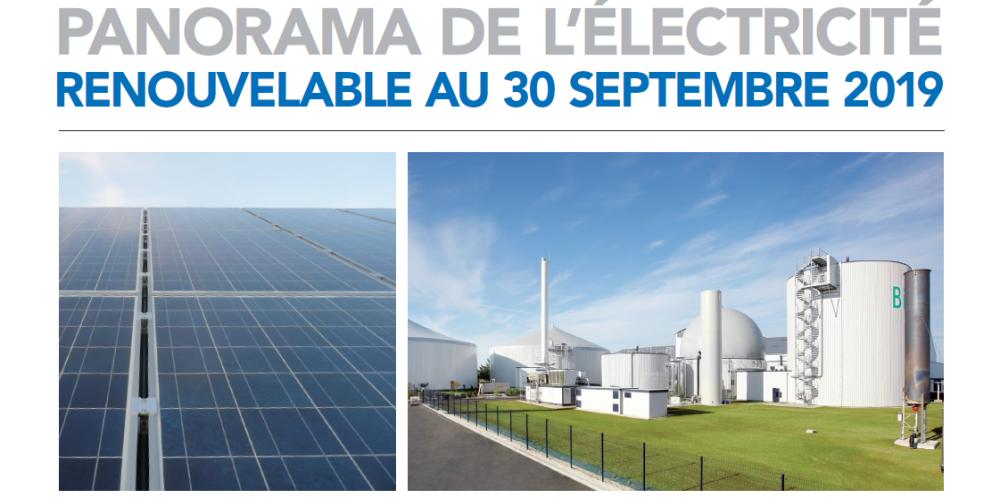 Vignette panorama électricité renouvelable au 30092019