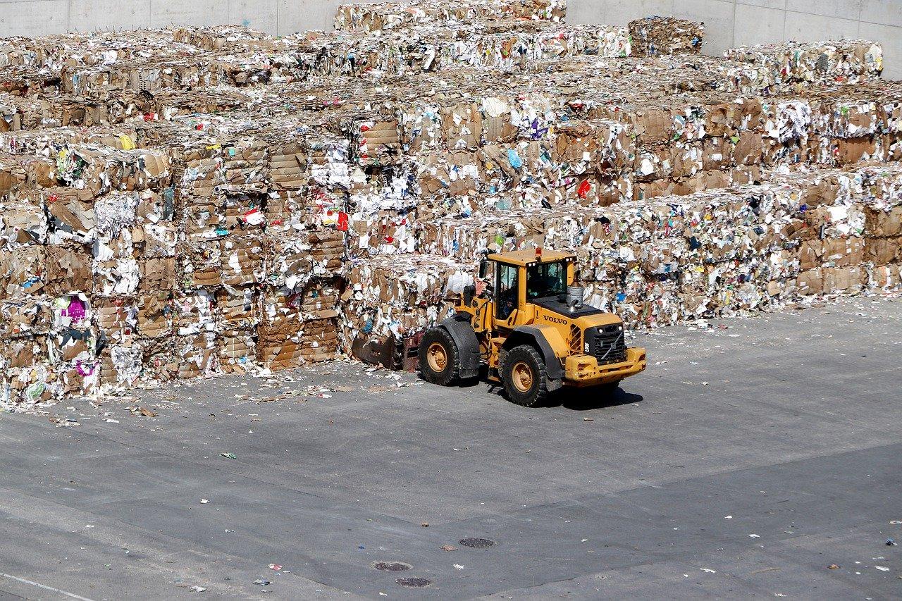 Balles déchets papiers