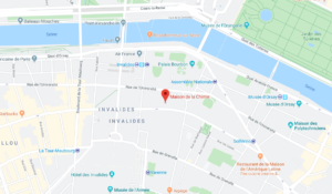 Maps maison de la chimie Paris