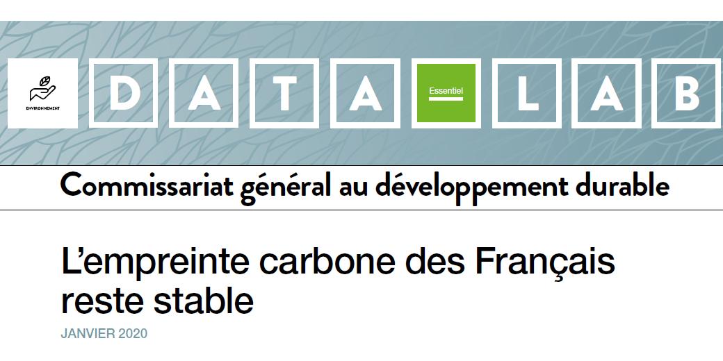 Vignette empreinte carbone français